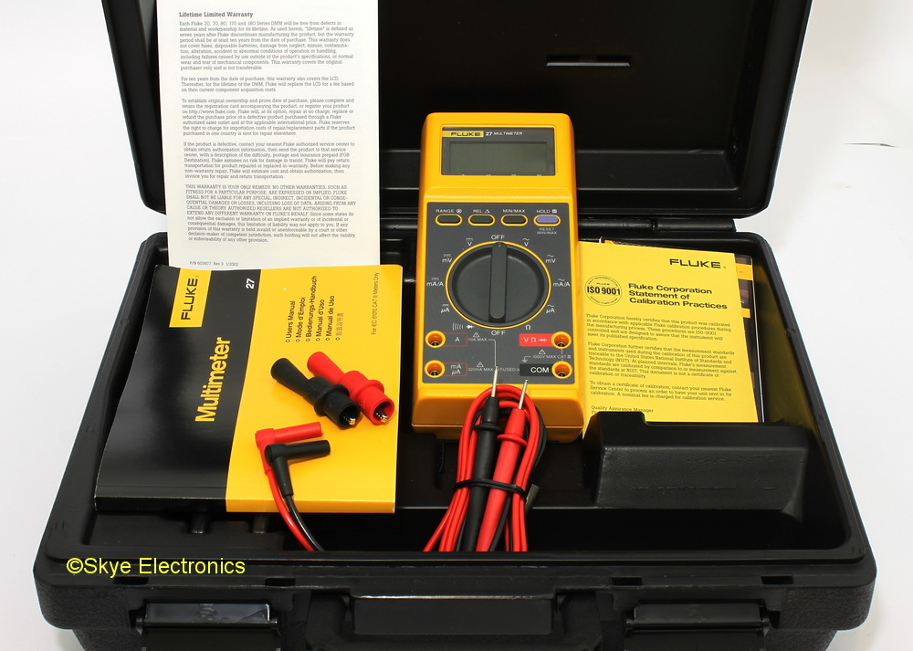 fluke 27 skye electronics the netherlands rh skye electronics com Fluke Service Manuals Fluke 179 User Manual