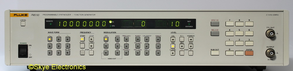 Fluke PM5193 Skye Electronics