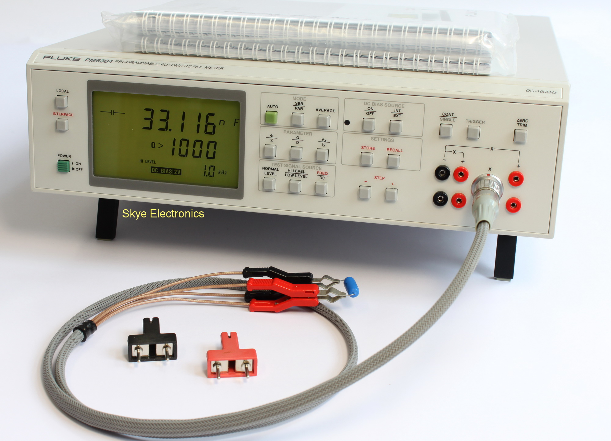 Overhead Primary Voltage Tester : Fluke pm rcl meter skye electronics the netherlands