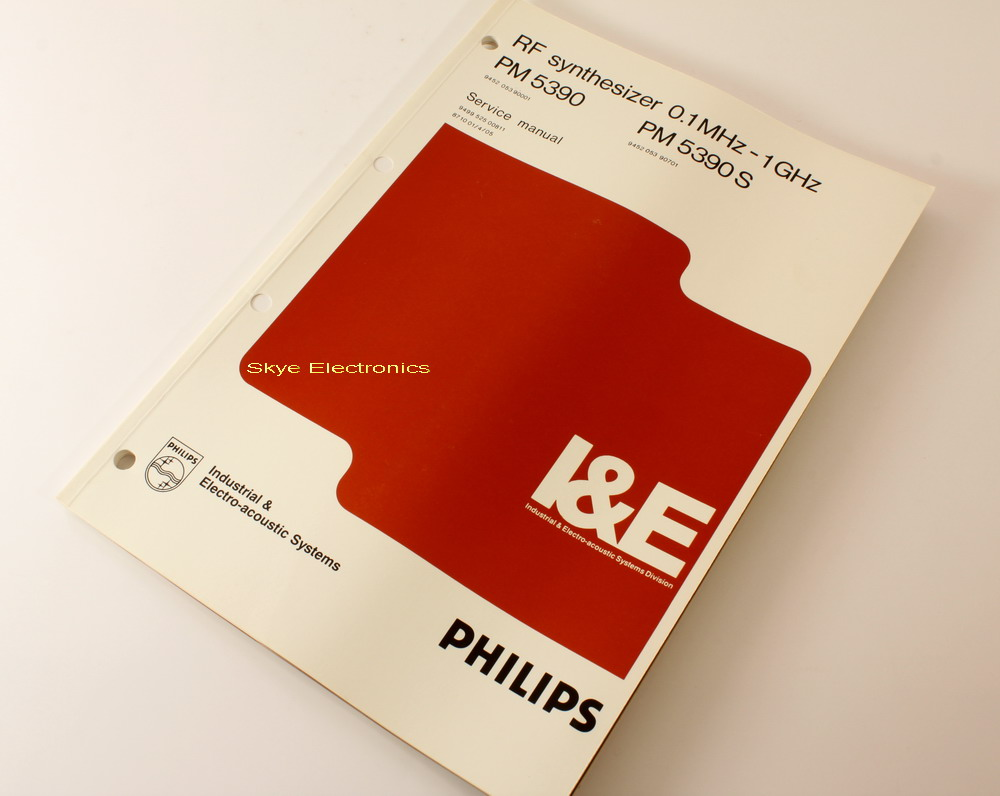 Philips PM5390 Service Manual Skye Electronics