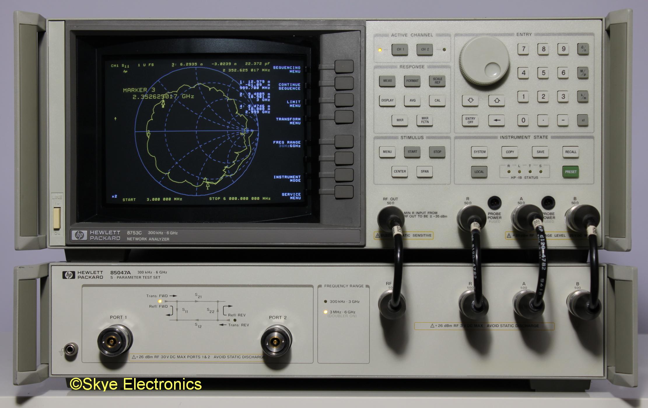 HP 8753C/HP 85047A S-Parameter Test Set Skye Electronics