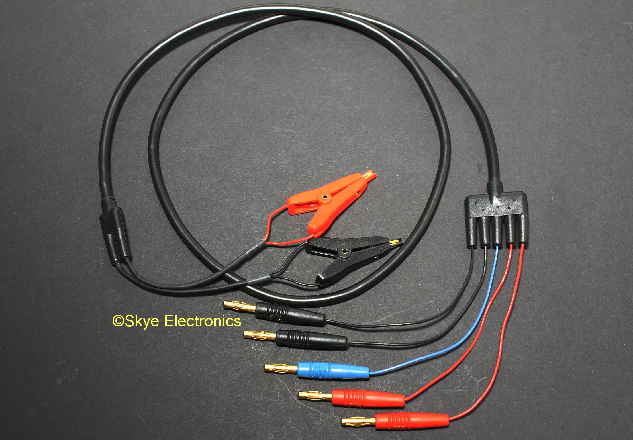 Kelvin Clip Banana Lead Set Skye Electronics